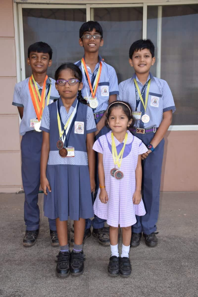 District Level Roller Skating winners